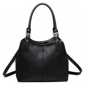 Black Multi Compartment Shoulder Bag