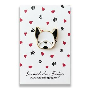Pug WishString Pin Badge