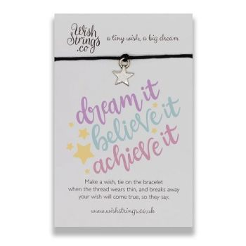 Dream, Believe, Achieve WishString