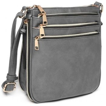Lana Zipper Bag - Grey*