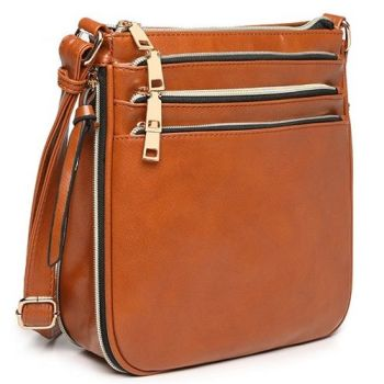 Lana Zipper Bag - Brown*