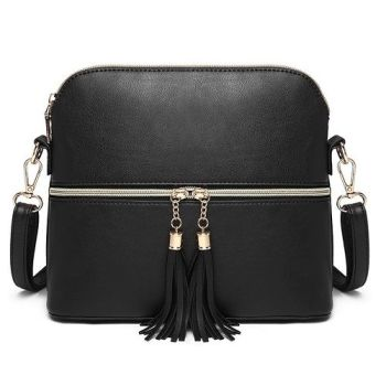 Natalie Tassel Bag - Black*