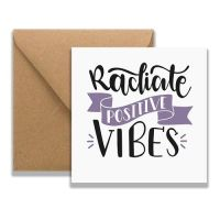 Mia Positive Vibes Card