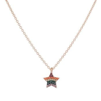 Mo Rainbow Star Necklace
