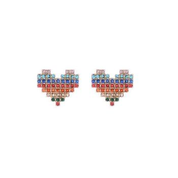 Betsy Rainbow Heart Earrings