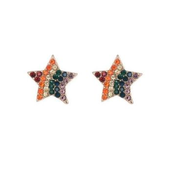 Mo Rainbow Star Earrings