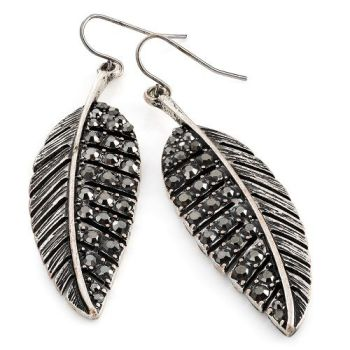 Ebony Leaf Earrings