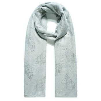 Coreen Delicate Leaf Scarf
