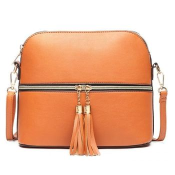 Natalie Tassel Bag - Brown*