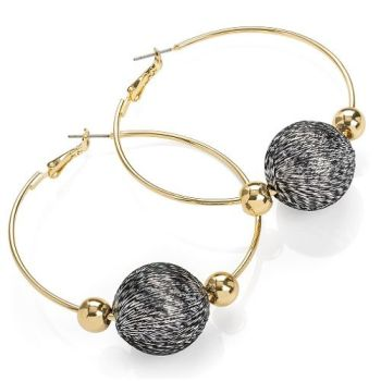 Ursula Ball Hoop Earrings