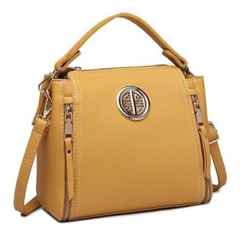Vanessa Dual Zipped Handbag - Yellow*