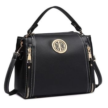 Vanessa Dual Zipped Handbag - Black*