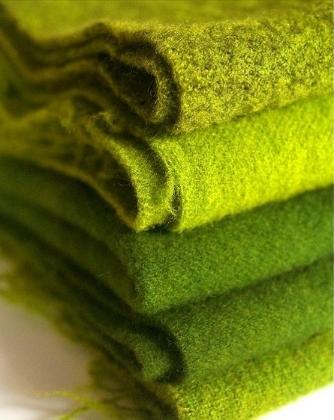 green blankets
