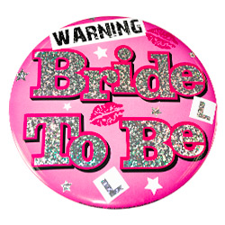 Bride To Be Badge - Lips