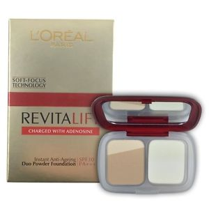 L'oreal Revitalift Instant Anti-Ageing Duo Powder Foundation - 110 Ivory