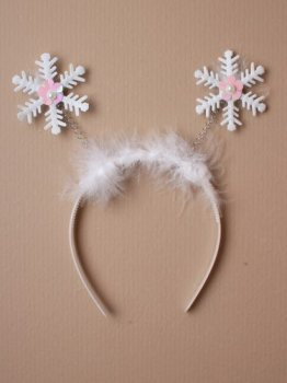 Christmas Snowflake deeley bopper - With flower and pearl