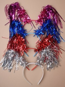 Christmas tinsel deeley bopper - Red