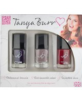 Tanya Burr Trio Nail Polish Gift Set - Number 5 -  Riding Hood, Penguin Chic, Midnight Sparkles