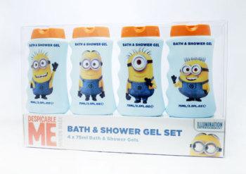 Minions Shower Gel Bath Set multicoloured 75ml 4 pieces