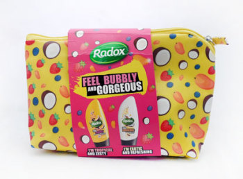 Radox Feel Bubbly And Gorgeous - 2 Piece + Washbag Gift Set