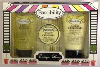 Possibility Pamper Shop Lemon Cheesecake - 3 Piece Gift Set  (2 pack) Bulk Buy