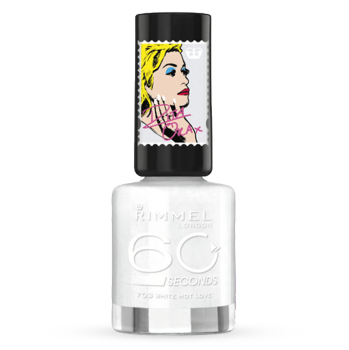 Rimmel 60 Seconds Nail Polish Rita Ora - 703 White Hot Love