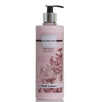 Autumn & May White Rose & Lotus Flower Body Lotion 5ooml