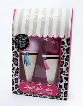 Sugar & Spice Ice Cream Sundae Gift Set - Body Lotion & Bath Cream