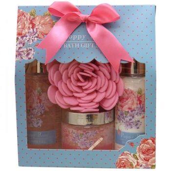 Creative Colours Poppy Rose Ladies Bath Gift Set