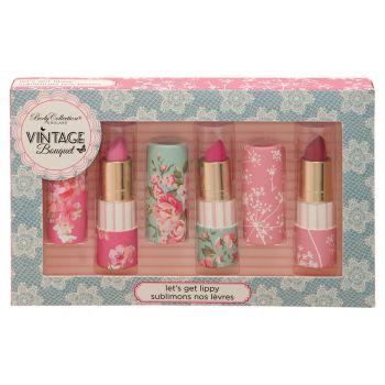 Body Collection Vintage Bouquet Lipstick Trio Gift Set