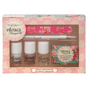 Body Collection Vintage Bouquet French Manicure Kit