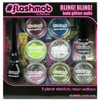 #Flashmob Bling! Bling! Bold Glitter Nails!