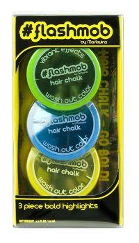 #Flashmob Hair Chalk - Blue, Green, Yellow