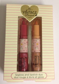 Body Collection Vintage Bouquet Lipgloss & Lipstick Duo Gift Set