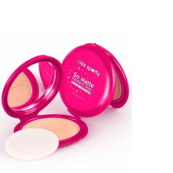 Miss Sporty So Matte Perfect Stay Smooth Pressed Powder - 002 Medium - Pink Case