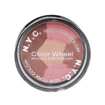 NYC Color Wheel Mosaic Eye Powder - Pink Cadillac
