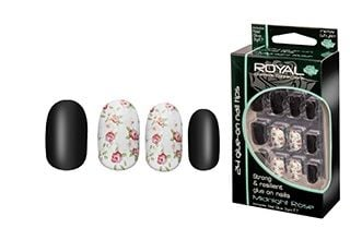 Royal Strong & Resilient Glue on Nails - Midnight Rose