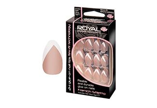 Royal Flexible & Durable Glue on Nails - French Stiletto