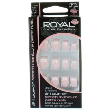 Royal Strong & Resilient Glue on Nails - French Manicure Petite