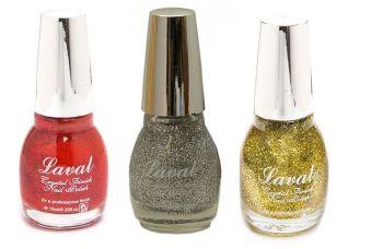 Laval Crystal Finish Nail Polish - 3 Pack