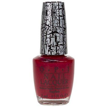 O.P.I Shatter Nail Lacquer 15ml Red