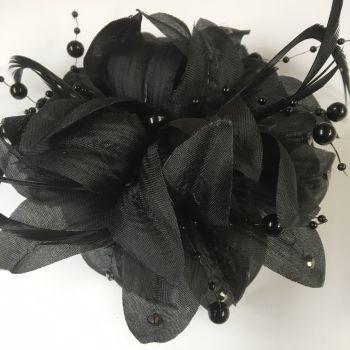 Black Bling Wrist Corsage