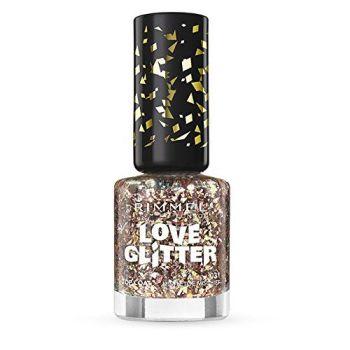 Rimmel London Love Glitter Nail Varnish - 031 Mistletoe Mischief Bronze Glitter