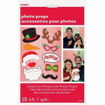 Unique Christmas Photo Props 10 PCS