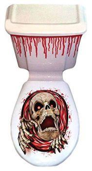 Halloween Toilet Horror Skeleton Decoration Set