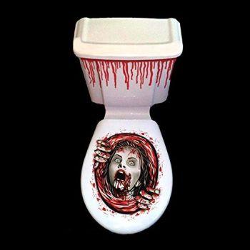 Halloween Toilet Horror Girl Decoration Set