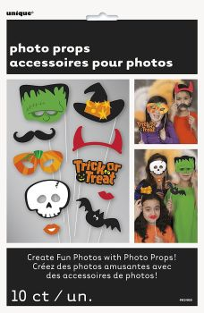 Trick or Treat Halloween Photo Booth Props - Pack of 10
