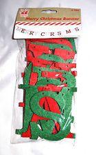 Christmas Felt Banner 2.75M Red & Green