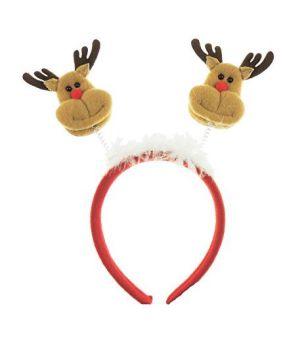 Festive Christmas Girls Ladies Deely Bopper Party Headband Alice Band Reindeer Rudolph