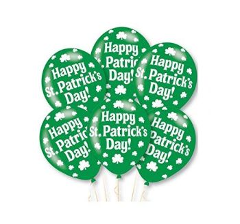 Amscan Happy St Patrick's Day Latex Balloon (Pack of 6)